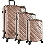 Nine West 3 Piece Hardside Spinner Luggage Set, Rose