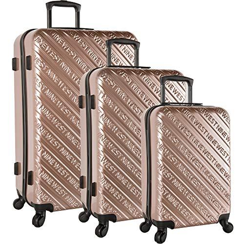 Nine West 3 Piece Hardside Spinner Luggage Set, Rose (West Luggage Nine Set)