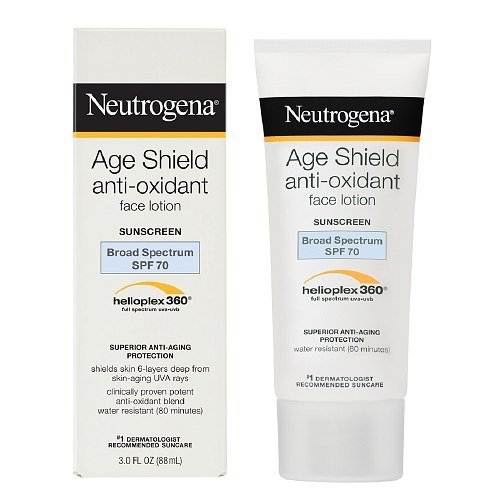 Sunblock Age Shield - Neutrogena Age Shield Face Lotion Sunscreen Broad Spectrum SPF 70-3 Oz