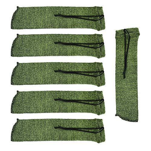 "GUGULUZA Silicone Treated Knit Handgun Gun Sock 12"" for Pistols,Handgun Sleeve Pack of 6 (F-Green)"