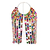 Belly Body Chain Jewelry Vintage Colorful Full Body Chain Dress Spike Body Chain Necklace Jewelry