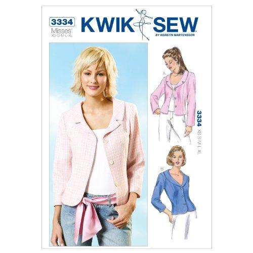 Kwik Sew K3334 Jackets Sewing Pattern, Size XS-S-M-L-XL