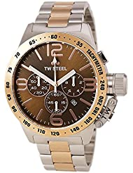 Tw Steel Cb154 Mens Stainless Steel Case Canteen Bracelet Brown Dial Two-tone Watch
