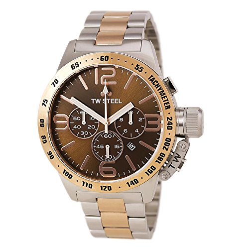 Tw-Steel-Cb154-Mens-Stainless-Steel-Case-Canteen-Bracelet-Brown-Dial-Two-tone-Watch