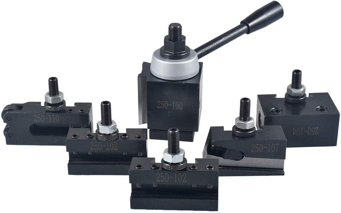 "AXA Size 250-100 Set Piston Type Quick Change Tool Post Set for Lathe 6-12/"" New"