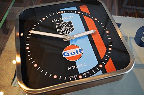 tag-heuer-monaco-gulf-edition-dealer-showroom-wall-clock