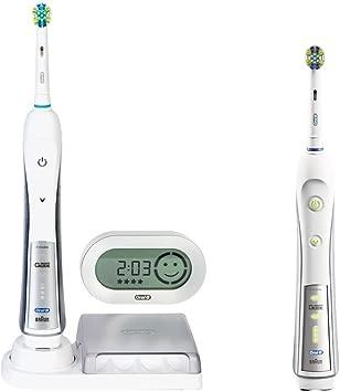 Braun Oral B Triumph 5500 Elektrische Premium Zahnbürste (mit 2. Handstück, Reise Etui und SmartGuide)