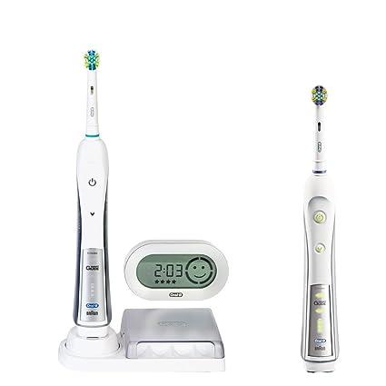 Braun Triumph 5500 - Cepillo de dientes eléctrico (Batería, 2 piezas) Plata,