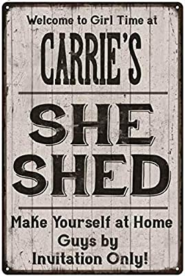 Amazon.com: Chico Creek Signs Carrie S She Shed - Cartel de ...