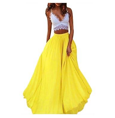 ... Elegantes Faldas largas Mujer Verano Faldas Mujer Invierno Primavera Vestidos Mujer Moda Alta Cintura Fold Soild Vintage Suelta Playa Abrigo Maxi Largo ...