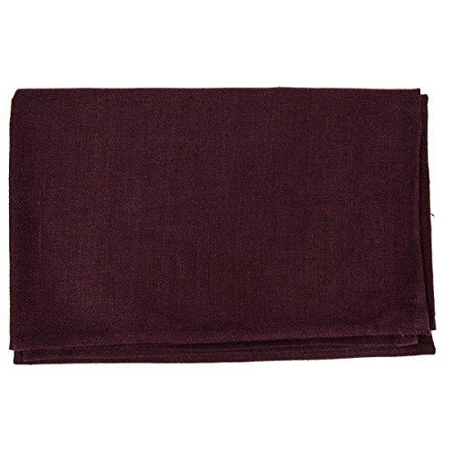 LinenMe Linen Lara Bath Towels (Set of 4), 39 x 55, Aubergine