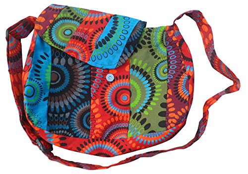 TRADE PRINTED BEACH TRAVEL FAIR PANEL COTTON HIPPY BAG FESTIVAL NEPALESE BOHO qdxwBO