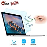 Eye Protection Anti Blue Light Screen Protector for 2016-2019 MacBook Pro 15 A1707 A1990, FORITO Blue Light Blocking & Anti Glare Screen Protector for New MacBook Pro 15 (2-Pack)