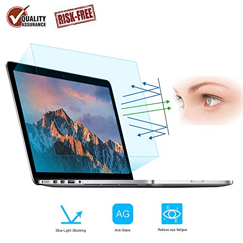 Eye Protection Anti Blue Light Screen Protector for 2016-2019 MacBook Pro 15 A1707 A1990, FORITO Blue Light Blocking & Anti Glare Screen Protector for Apple MacBook Pro 15 Inch Model -