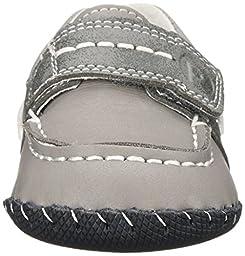 pediped Originals Norm Boat Shoe (Infant),Grey,X-Small (0-6 Months E US Infant)