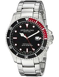 Stuhrling Original Men's 8326B.331164 Aquadiver Regatta Elite Swiss Quartz Diver Date Red Bezel Watch
