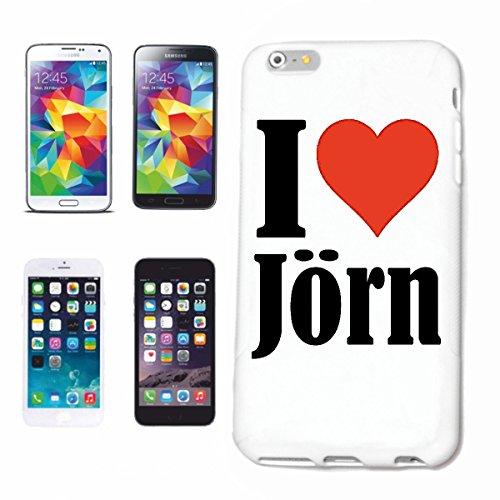 """Handyhülle iPhone 4 / 4S """"I Love Jörn"""" Hardcase Schutzhülle Handycover Smart Cover für Apple iPhone … in Weiß … Schlank und schön, das ist unser HardCase. Das Case wird mit einem Klick auf deinem Smar"""