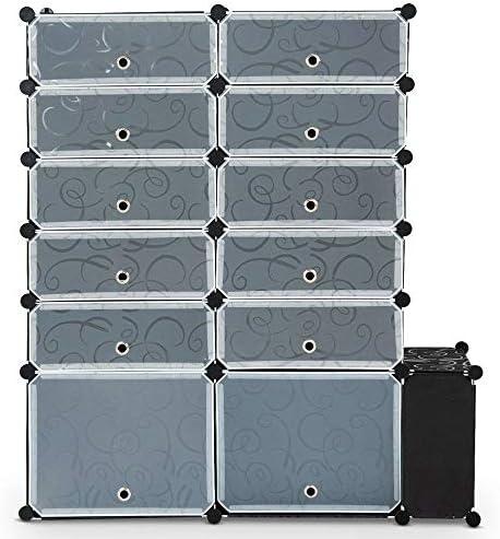 Modern Home Diy 13 Cube 24 Pair Space Saving Portable Shoe Storage Cabinet Organizer Us Home Kitchen