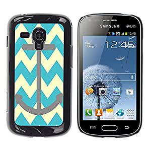 - chevron anchor boat - - Hard Plastic Protective Aluminum Back Case Skin Cover FOR Samsung GALAXY Trend Duos S7562 Queen Pattern