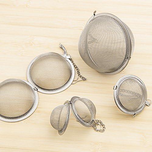 BESTOMZ Mesh Tea Ball Infuser Strainers Tea Strainer Filters Tea Interval Diffuser for Tea