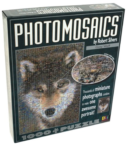 Photomosaics: Grey Wolf by Robert Silvers 1000 piece Jigsaw Puzzle