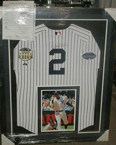 (Ny Yankees Derek Jeter Autographed Signed Memorabilia Authentic Pinstripe W Patches Jersey JSA Loa Auto )