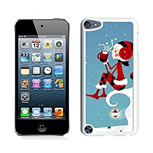 Ipod 5 Cases,Red Earmuff Christmas Girl White Hard Shell Plastic Apple Ipod Touch 5th Cases