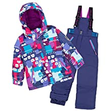 Deux par Deux Girls' 2-Piece Snowsuit Nap on the Floor Blue, Sizes 4-14
