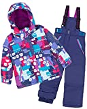 Deux par Deux Girls' 2-Piece Snowsuit Nap On The Floor Blue, Sizes 4-14 - 7