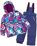 Deux par Deux Girls' 2-Piece Snowsuit Nap On The Floor Blue, Sizes 4-14 - 7