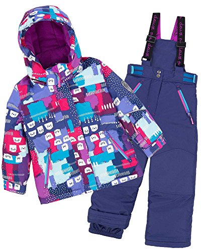 Deux par Deux Girls' 2-Piece Snowsuit Nap On The Floor Blue, Sizes 4-14 - 7 by Deux par Deux