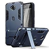 Lumia 650 Best Deals - Lumia 650 Case - Terrapin Microsoft Lumia 650 Cover - Full Body Shock Resistant Armor Case - High-Tech Look - Dual Layer - Kickstand - Dark Blue