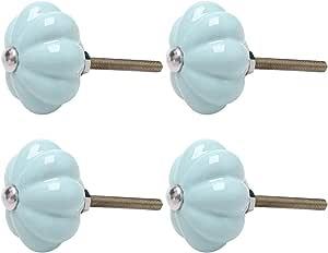 elegantes pomos de caj/ón color azul pomos redondos para puerta de muebles tiradores antiguos de calabaza TsunNee 6 pomos de cer/ámica para armario