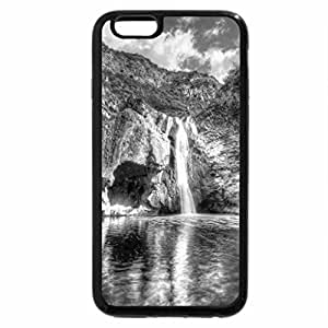 iPhone 6S Plus Case, iPhone 6 Plus Case (Black & White) - HDR Waterfall at Malibu Canyon