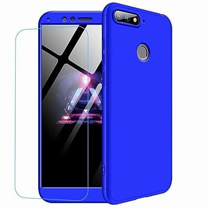 CIRRYS Funda para Huawei Honor 8 Carcasa+Protector de patalla [Ultra-Delgado] [Ligera] Mate Anti-arañazos y Antideslizante Caso Forro Azul