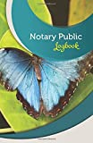 "Notary Public Logbook: 50 Pages, 5.5"" x 8.5"" Beautiful Blue Butterfly"