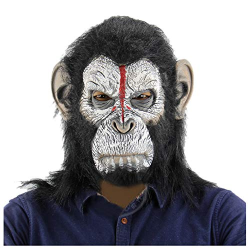 (Halloween Novelty Costume Creepy Chimp Monkey Mask Animal Head Mask for Party (Picture)