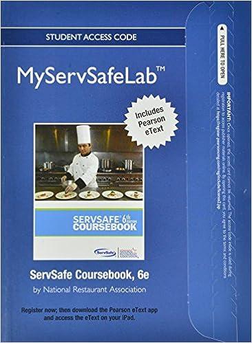 Servsafe coursebook 6th edition.