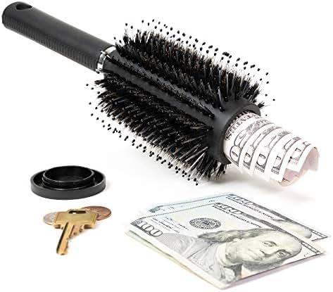 WYZworks Real Hair Brush Money Jewelry Hider Safe Hidden Stash Secret Box