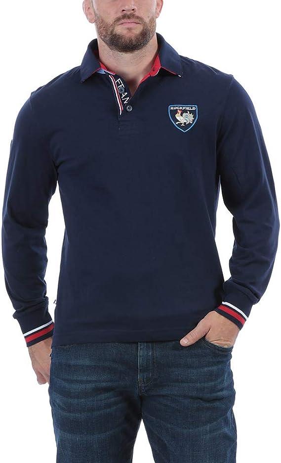Ruckfield - Polo de Rugby de Francia, Color Azul Azul XXL: Amazon ...