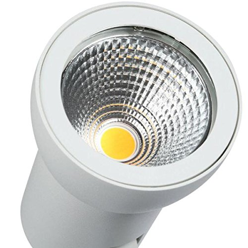 Hampton Bay White Dimmable Large LED Track Lighting Cylinder