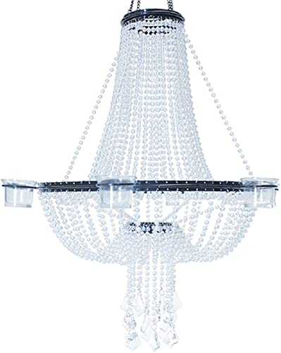 Event Decor Direct Empire Chandelier 6 Candle Holder – Crystal Iridescent