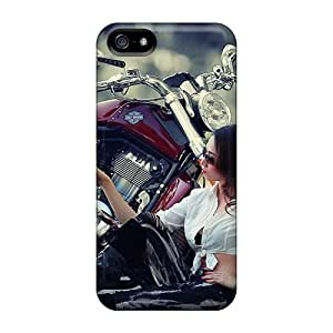 Iphone 5/5s Cases Covers - Slim Fit Protector Shock Absorbent Cases (girl Motorcycle)