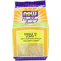 NOW Empty Vcaps '0', 1000 Vegetable Capsule