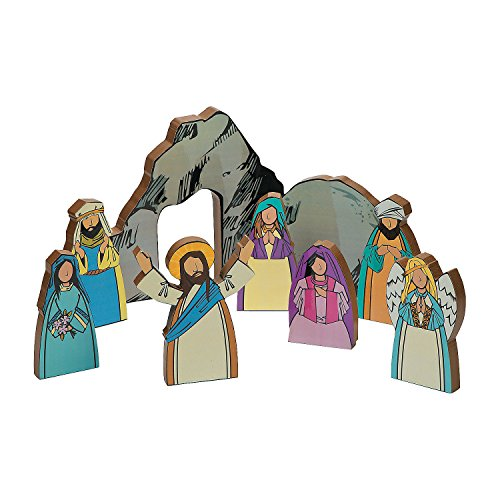 Wooden Resurrection of Jesus Toy Playset - Christian Easter Activity