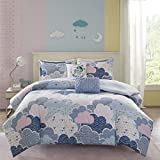 Purple and Cream Duvet Cover Urban Habitat Kids Cloud Duvet Cover Set, Purple