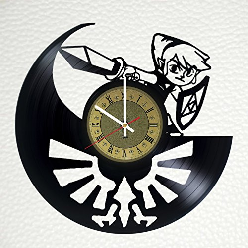 Zelda Art Decor Vinyl Record Wall Clock - gift idea for girls boys sister and brother - home & office bedroom nursery room wall decor - customize your clock
