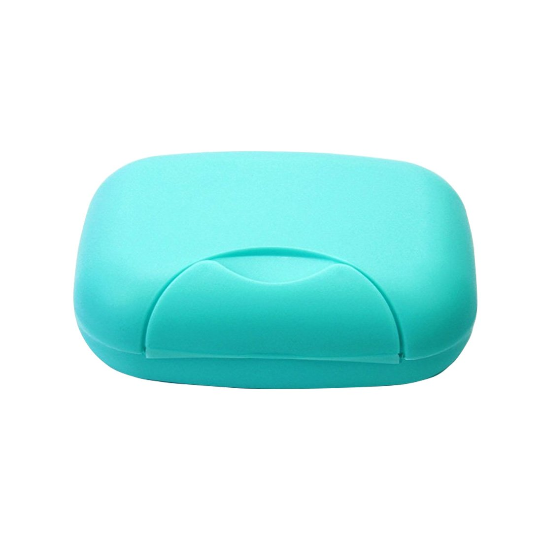 ASKCUT Fashionable Travel Portable Soap Box Dishes,Creative Home Bathroom Soap Case with Plastic Seal Waterproof Leakproof(Blue)
