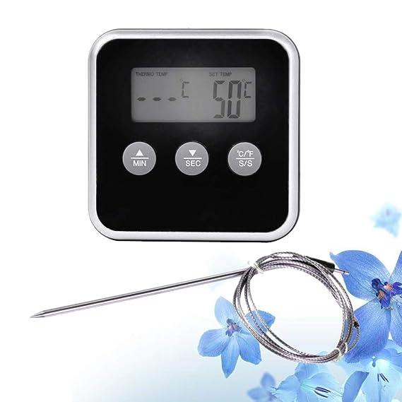 Vosarea barbacoa termómetro alarma temporizador de cocción para ...