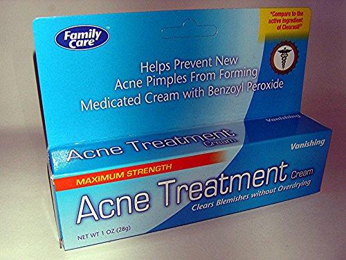 Force maximale, 10 % de peroxyde de benzoyle, l'acné traitement crème de jour - 1 0z